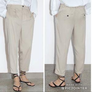 Zara Linen Ankle Pants